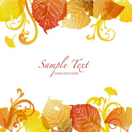 autumn leaf frame: las hojas ca�das de fondo