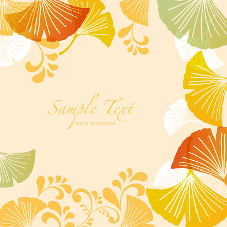 ginkgoes background Vector