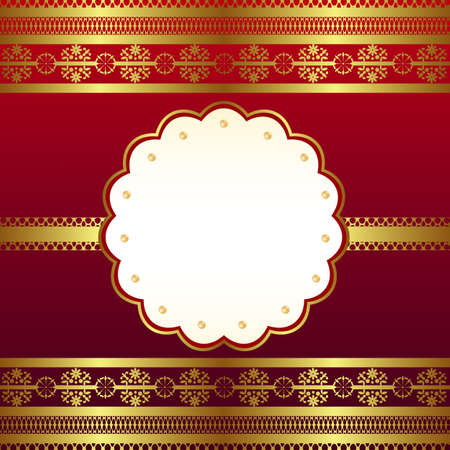 classical frame red Vector