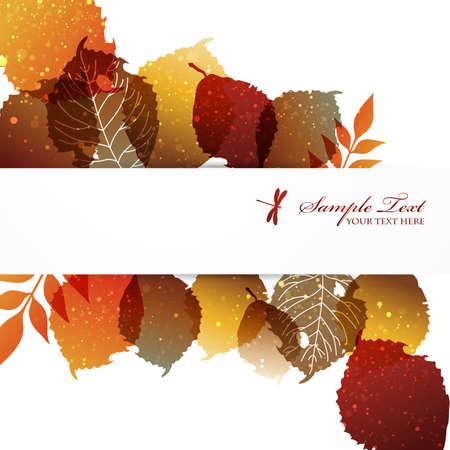 fallen: fallen leaves background Illustration