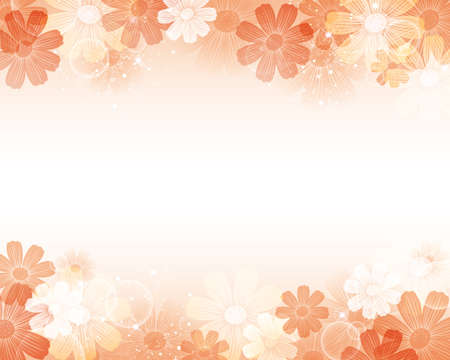 cosmoses background Stock Vector - 14689579