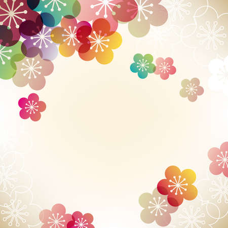 japanese apricot background Vector