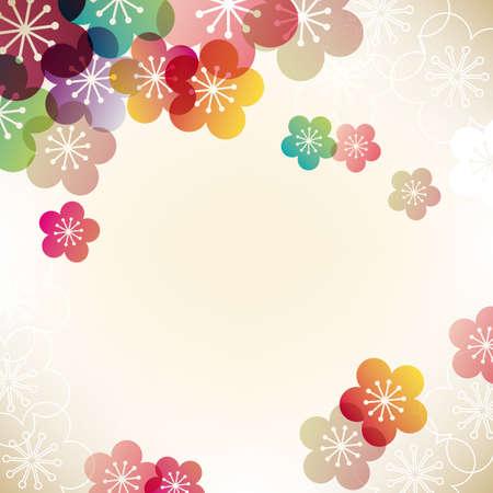 Japanse abrikoos achtergrond Vector Illustratie