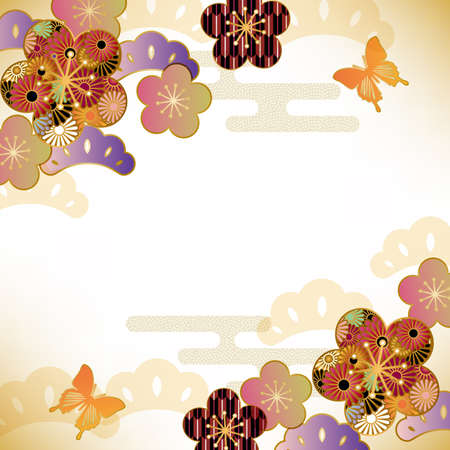 spring in japan: japanese motif background Illustration