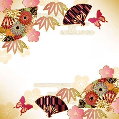 crisantemos: fondo motivo japon�s