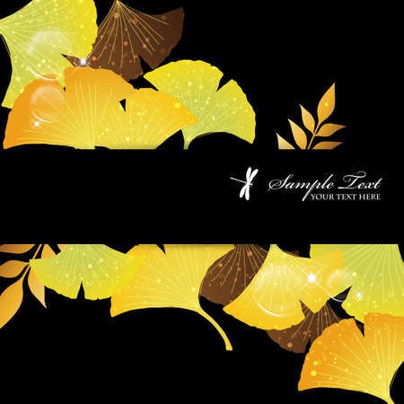ginkgoes background Stock Vector - 15216025