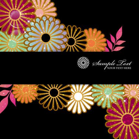 chrysanthemum background Ilustração Vetorial