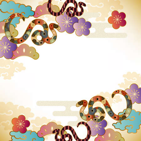 japanese apricot: snake background