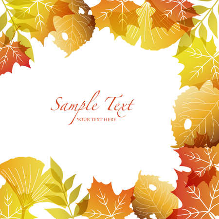 fallen leaves background Stock Vector - 15216038
