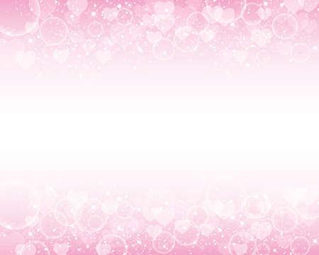 christmas pink: heart shines background