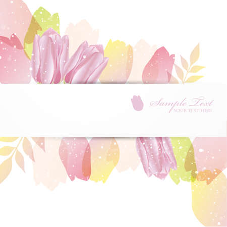 material flower: tulip background Illustration