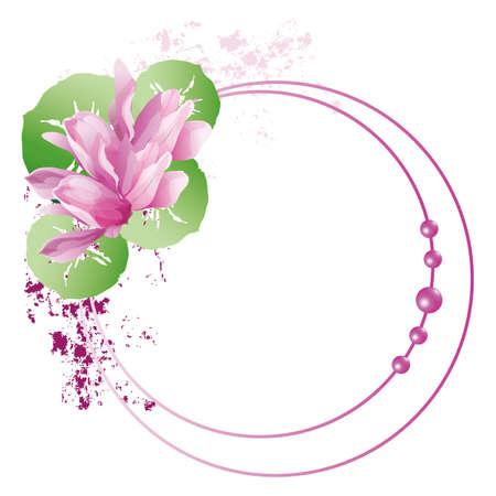 cosmos flower: cyclamen frame
