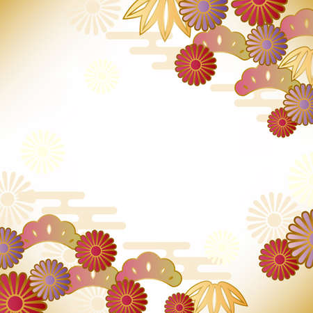 japanese new year: japanese motif background Illustration