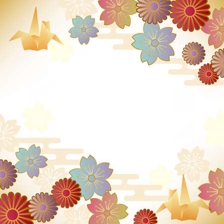 japanese motif background Illusztráció