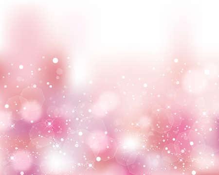 ピンクの輝く背景  イラスト・ベクター素材