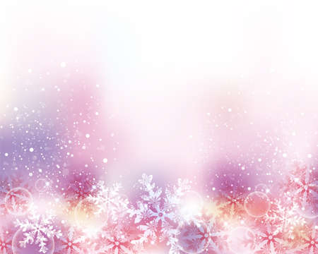 christmas pink: crystal shines background Illustration