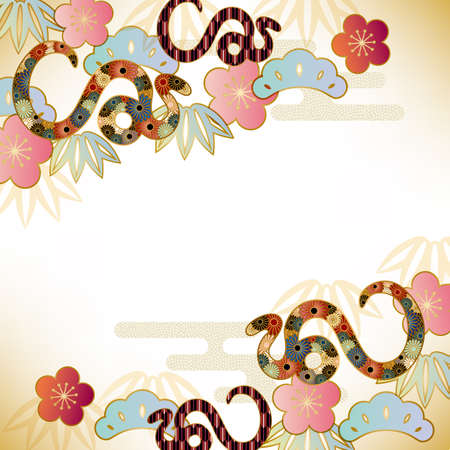 year of snake: snake background