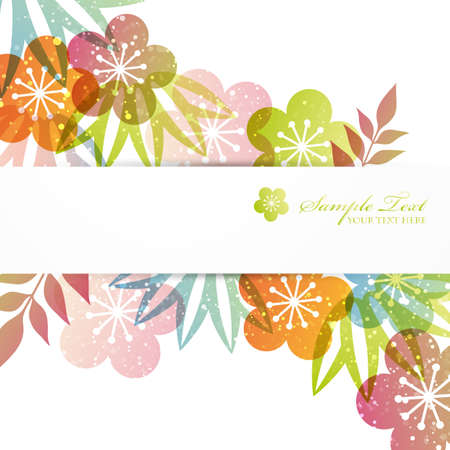 japanese apricot flower: japanese auspicious background Illustration