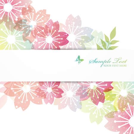 kersenbloesem: kersenbloesem bloemen achtergrond Stock Illustratie