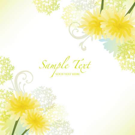spring background with dandelion Vector