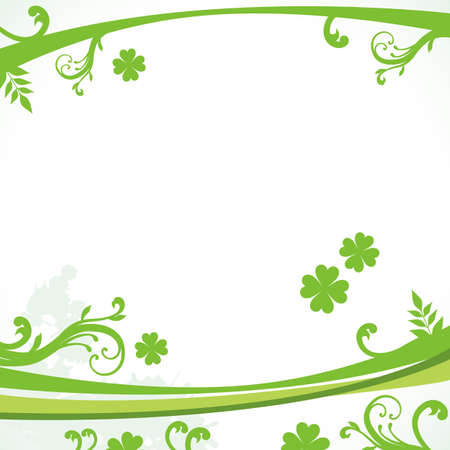 fern leaf: clover background