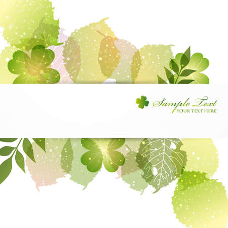 green leaves background Vectores