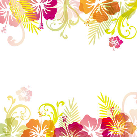 hibiscuses background Stock Vector - 19357698
