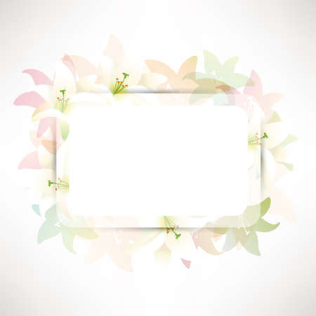 lilies background Stock Vector - 19582815