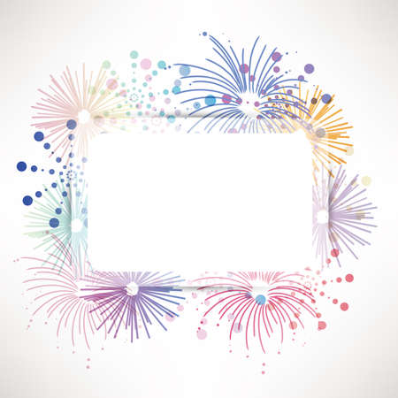 illustration background: fireworks background