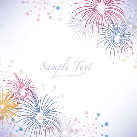 summer festival: fireworks background