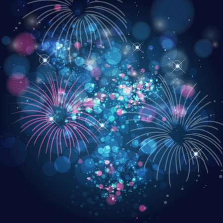 summer festival: fireworks Illustration