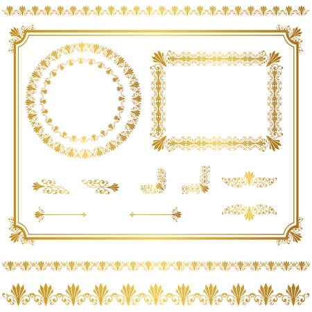 lace frame: gold frame set