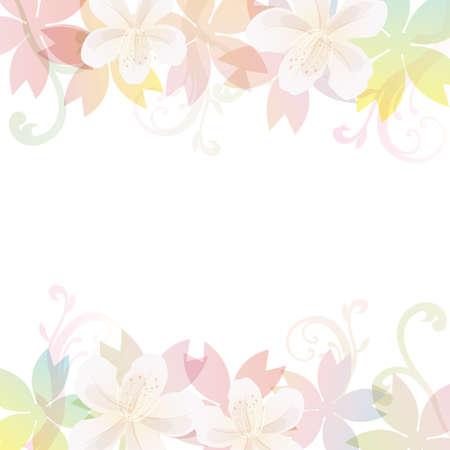 春の花の背景  イラスト・ベクター素材