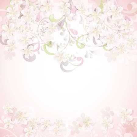 kersenbloesem bloemen achtergrond kaart