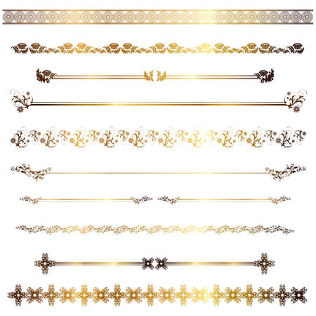 goldene Linie  Illustration