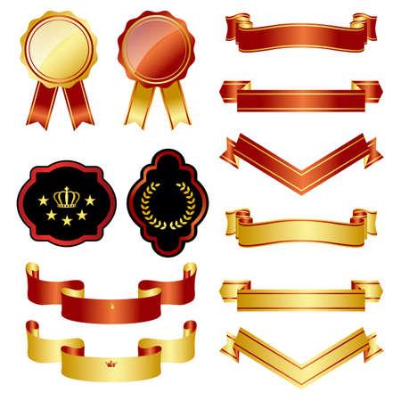 nobleman: oro e insieme l'emblema rosso
