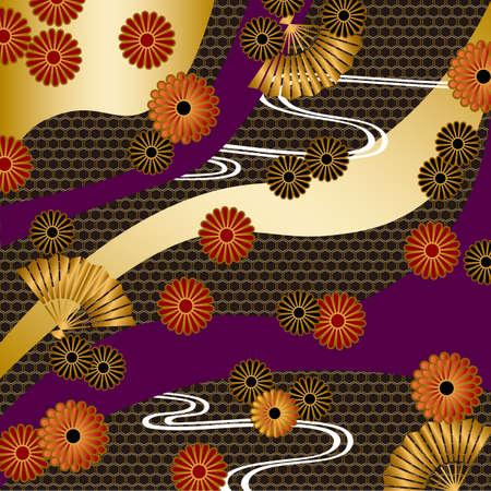 japanese motif background Ilustração