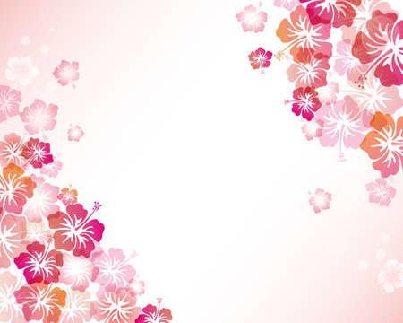 hibiscuses background Vector