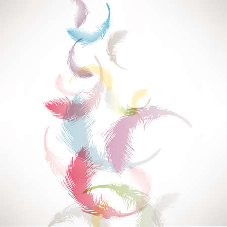 colorful feather background Illustration