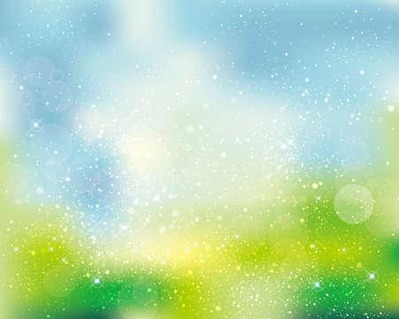 Green background 일러스트