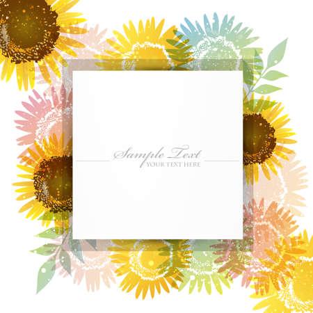vigor: sunflower background