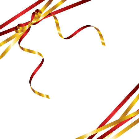 red and gold ribbon background