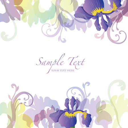 fresh flowers: sweet flag background Illustration