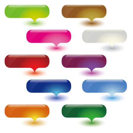 emphasis: dialog bubbles set