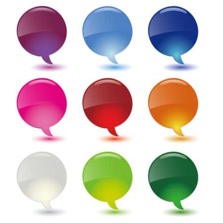 pr: dialog bubbles set