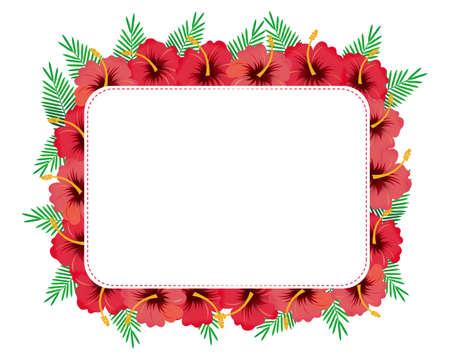 hibiscus frame Illustration