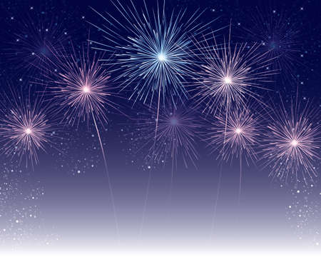 starry: fireworks background