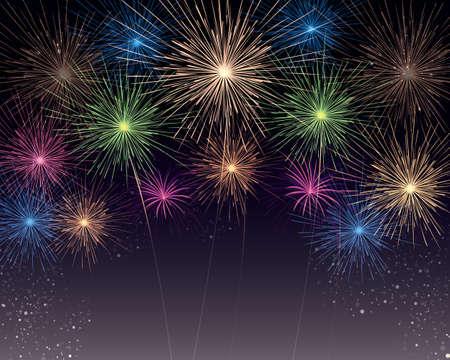 fireworks Ilustracja