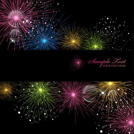 fireworks 矢量图像