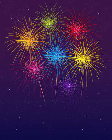 fire show: fireworks Illustration